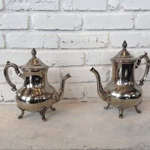 Set of Sterling Silver Plated Tea Kettles
